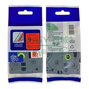 标签色带,红底黑字TZ2-421宽度9mm 适用于兄弟TZ系列标签机
