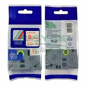 标签色带,白底红字TZ2-222宽度9mm 适用于兄弟TZ系列标签机