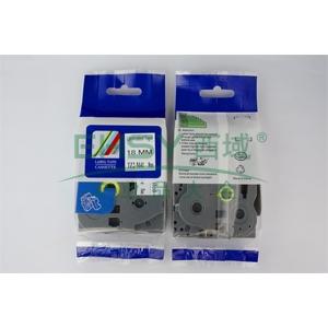 普贴 标签色带,哑光透明底黑字TZ2-M41宽度18mm 适用于兄弟TZ系列标签机 单位:卷