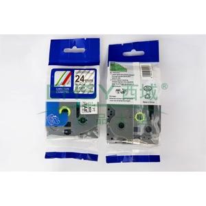 标签色带,透明底黑字TZ2-151宽度24mm 适用于兄弟TZ系列标签机
