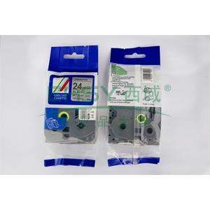 标签色带,银底黑字TZ2-M951宽度24mm 适用于兄弟TZ系列标签机