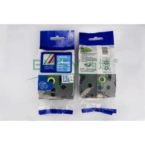 标签色带,蓝底白字TZ2-555宽度24mm 适用于兄弟TZ系列标签机