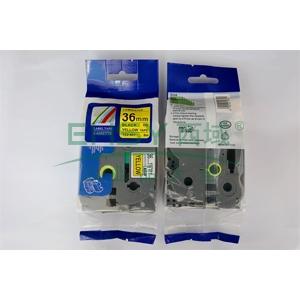 标签色带,黄底黑字TZ2-661宽度36mm 适用于兄弟TZ系列标签机