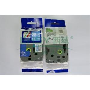 标签色带,蓝底白字TZ2-565宽度36mm 适用于兄弟TZ系列标签机