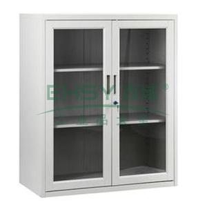 玻璃开门矮柜-3,900宽*400深*1090高,灰白色,0.7mm厚度