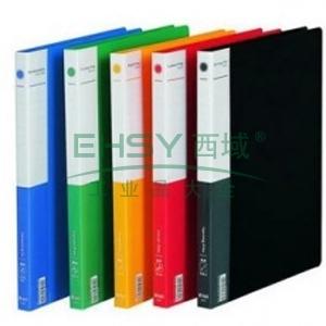 得力A4单强力夹加插袋文件夹,颜色随机  5301