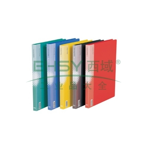 得力A48寸长押夹加插袋文件夹,蓝色  5348