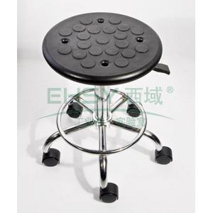 力點 防靜電工作凳,PU聚氨酯發泡 調節高度440~580mm(散件不含安裝)