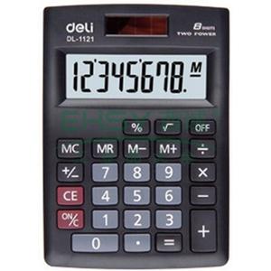 得力便携型计算器,黑色  1121