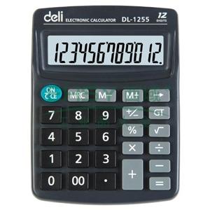 得力桌上型计算器,蓝色  1255