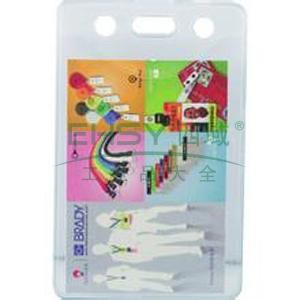 貝迪 透明軟身證件卡套,豎式63.5*101.5mm;適合卡尺寸:86*59mm 10個/包 單位:包