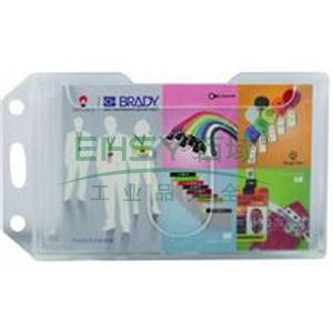 貝迪 彩色硬膠雙面多卡證件卡套,豎式 透明色59*92mm 適合卡尺寸:86*54mm 5個/包 單位:包