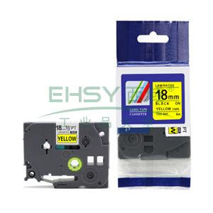 标签色带,荧光黄底黑字TZ2-C41宽度18mm 适用于兄弟TZ系列标签机
