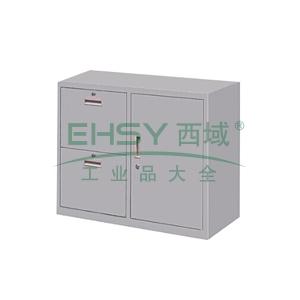 2斗柜,900(W)x400(D)x740(H) 灰白