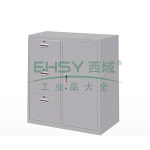 3斗柜,900(W)x400(D)x1060(H) 灰白 仅限上海