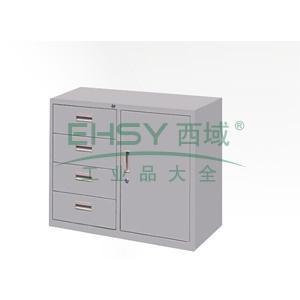 4斗柜,900(W)x400(D)x740(H) 灰白