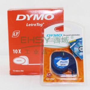 DYMO SC91201易可贴标签带(4m/卷) 标签带 (白底/黑字)