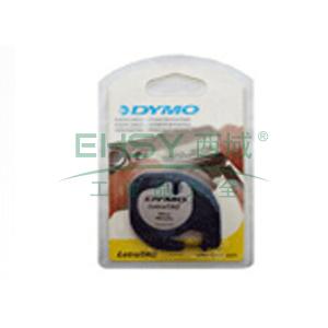 DYMO SC91208易可贴标签带(4m/卷) 标签带 (银底/黑字)