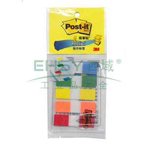 3M Post-it®报事贴透明指示标签,20片X5色装 683-5CF