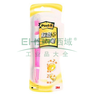 3M Post-it®报事贴,指示标签荧光笔, 粉色 689-HL1P