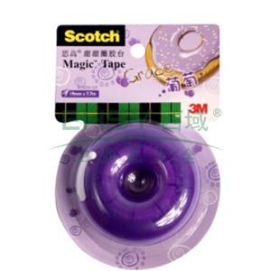 3M Scotch®胶带座,思高甜甜圈胶台 (葡萄) 单个
