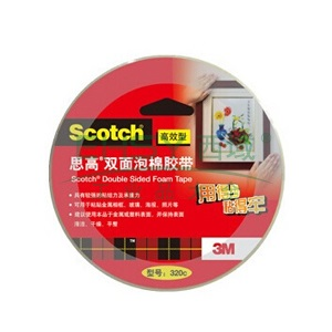 3M思高 双面泡棉胶带,320C 24MM*5.5M,单卷
