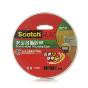 3M思高双面泡棉胶带,320C - 36MM*5.5M 单卷