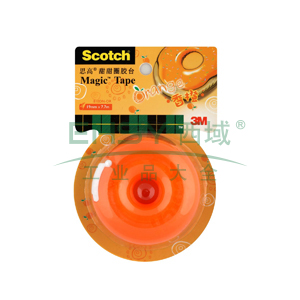 3M Scotch®胶带座,思高甜甜圈胶台 (香橙) 单个