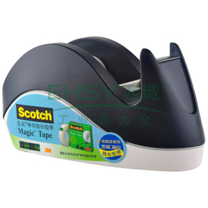 3M Scotch®胶带座,兔子胶带切割座-黑色 单个