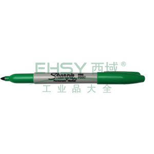 三福经济型永久性记号笔,精细1mm 绿色