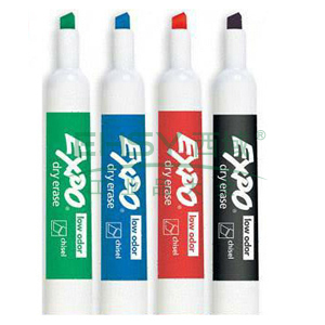 三福 低气味方头记号笔,书写宽度1-5mm 蓝色 单支