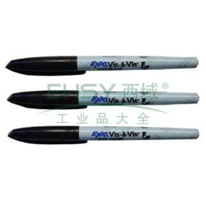 三福胶片记号笔(水性),0.7mm 黑色