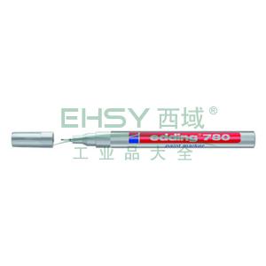 德国艾迪记号笔 油性记号笔,耐高温300度 线幅0.8mm 银色
