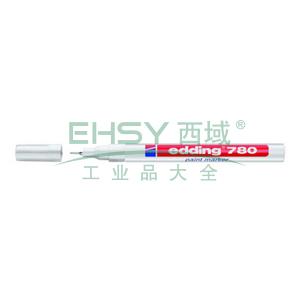 德国艾迪记号笔 油性记号笔,耐高温300度 线幅0.8mm 白色