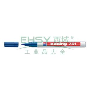 德国艾迪记号笔 油性记号笔,耐高温300度 线幅1mm-2mm蓝色