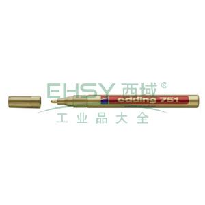 艾迪 记号笔,油性记号笔,耐高温300度 线幅1mm-2mm金色 单位:支