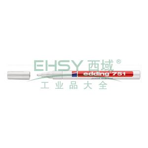 德国艾迪记号笔 油性记号笔,耐高温300度 线幅1mm-2mm白色