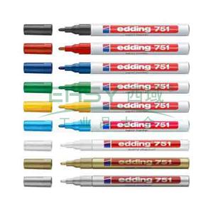 德国艾迪记号笔 油性记号笔,耐高温300度 线幅2mm-4mm红色