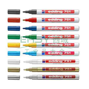 德国艾迪记号笔 油性记号笔,耐高温300度 线幅2mm-4mm蓝色