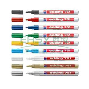 德国艾迪记号笔 油性记号笔,耐高温300度 线幅2mm-4mm绿色