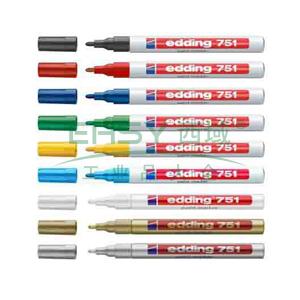 德国艾迪记号笔 油性记号笔,耐高温300度 线幅2mm-4mm金色