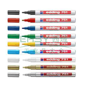 德国艾迪记号笔 油性记号笔,耐高温300度 线幅2mm-4mm白色