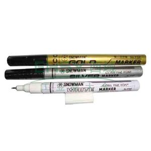 雪人极细记号笔 油性记号笔,线幅0.5mm 白色 单支