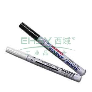 雪人中粗记号笔 油性记号笔,线幅1-2mm 黑色 单支