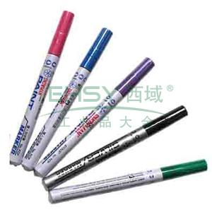 雪人中粗记号笔 油性记号笔,线幅1-2mm 紫色 单支