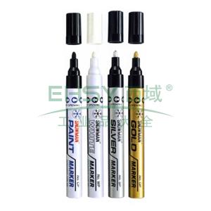 雪人特粗记号笔 油性记号笔,线幅1.5-3mm 银色 单支