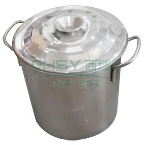 不锈钢桶(带盖),Φ50㎝ 单位:个