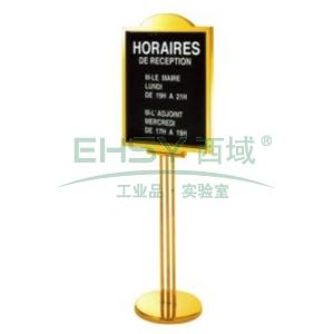 斜面指示牌,L700*W515*H1540,鈦金
