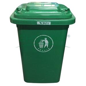 塑料垃圾桶不带轮50l 绿