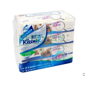 舒洁(Kleenex)抽取式面巾纸 2103-60 200*166毫米,双层,120抽/包 4包/提,24提/箱